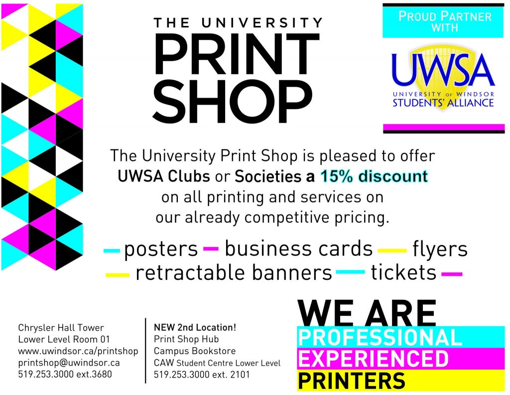 student groups university of windsor students alliance print shop deal