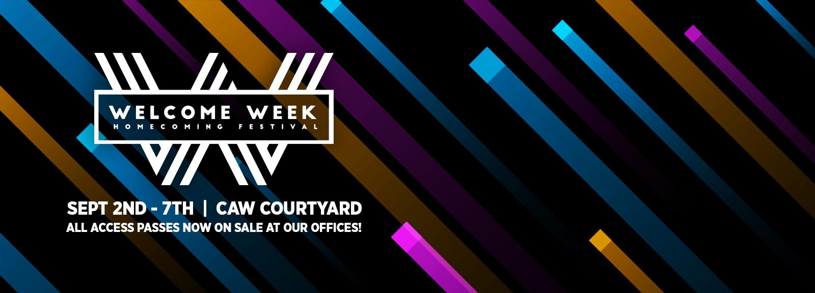 <span>WELCOME WEEK<span><br/>IS BACK!